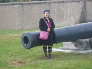 Me standing in front of a cannon